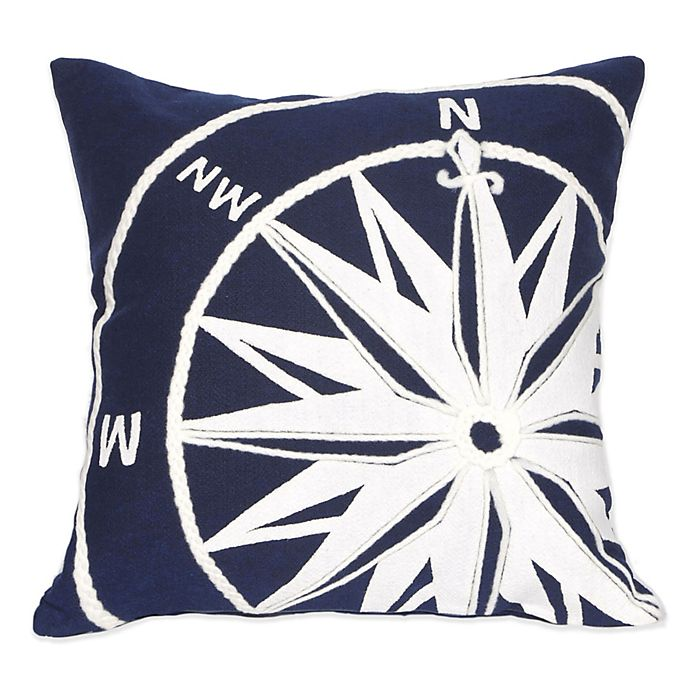 Alternate image 1 for Liora Manne Compass Marine 20-Inch x 20-Inch Outdoor Throw Pillow