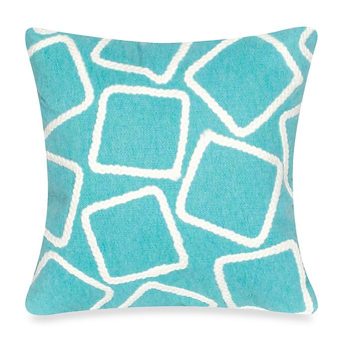 Alternate image 1 for Liora Manne Squares Square Indoor/Outdoor Throw Pillow
