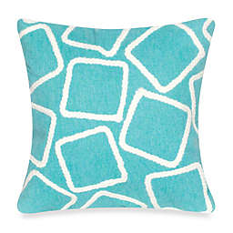 Liora Manne Squares Square Indoor/Outdoor Throw Pillow