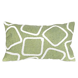 Liora Manne Squares 12-Inch x 20-Inch Outdoor Throw Pillow