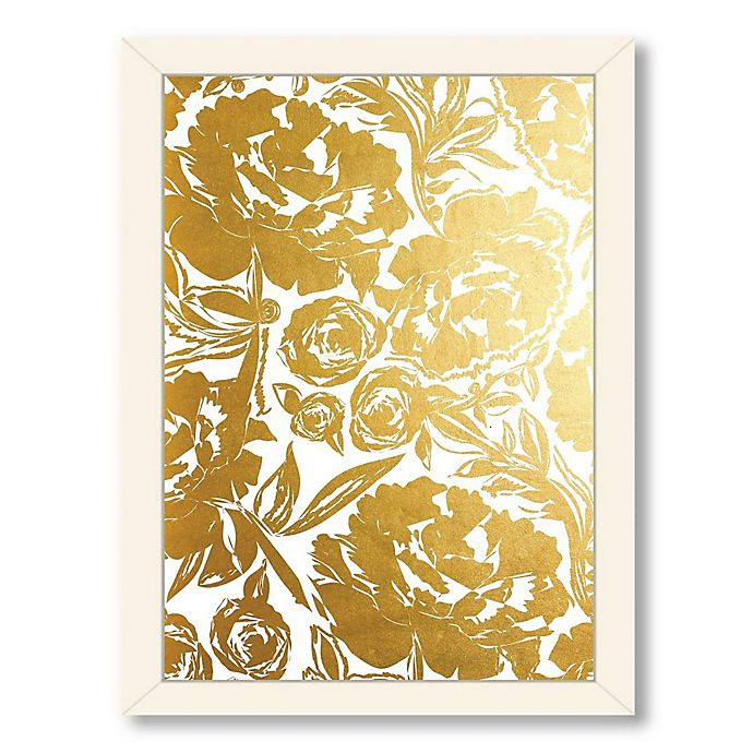 Alternate image 1 for Americanflat Khristian Howell Arianna in Gold Digital Print Wall Art with White Frame