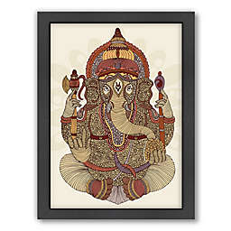 Americanflat Valentina Ramos Ganesha Digital Print Wall Art with Black Frame