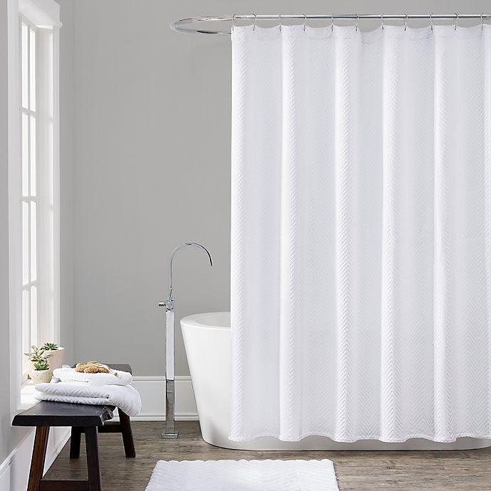 Lamont HomeTM 72 Inch X Chevron Shower Curtain