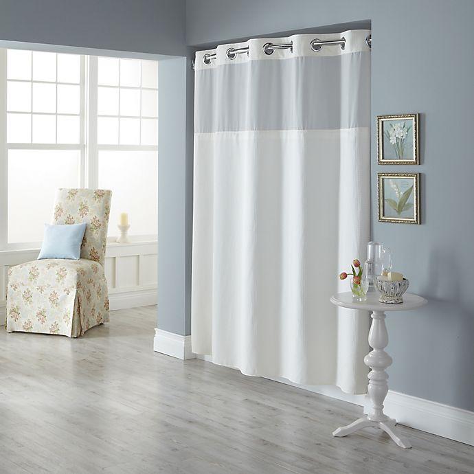 Hookless® Spa Waffle Shower Curtain
