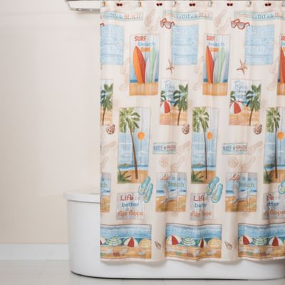 Shower Curtains At Bed Bath And Beyond beach time shower curtain | bed bath & beyond