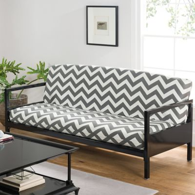 Loft Ny Cotton Rich Futon Cover In Grey Chevron Bed Bath And Beyond Canada