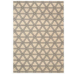 Nourison Hollywood Shim Machine Woven Rug in Bisque