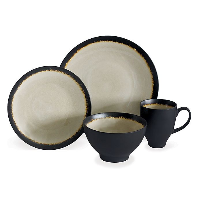 Alternate image 1 for Baum Galaxy Coupe 16-Piece Dinnerware Set in Sand