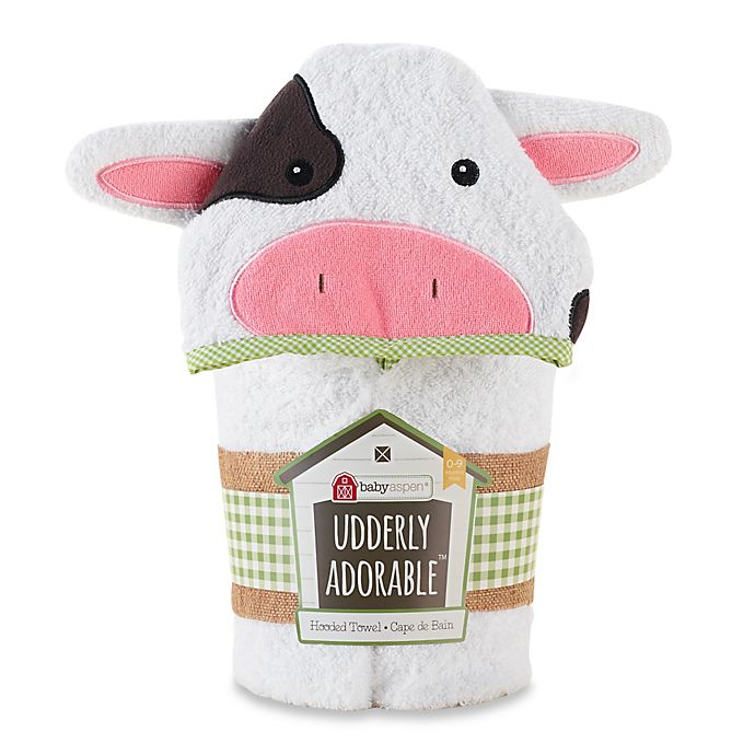 Alternate image 1 for Baby Aspen Utterly Adorable Cow Hooded Spa Towel