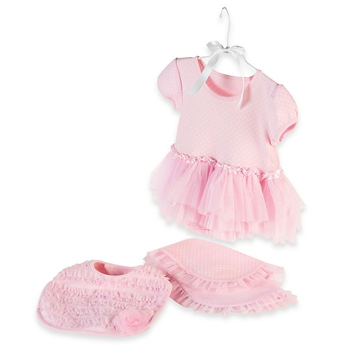 Alternate image 1 for Baby Aspen Size 0-6M 3-Piece Little Princess Gift Set in Pink
