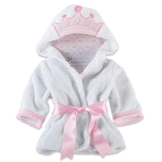 Alternate image 1 for Baby Aspen Little Princess Hooded Spa Robe
