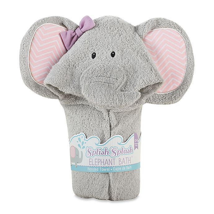 Alternate image 1 for Baby Aspen Splish-Splash Elephant Hooded Spa Towel