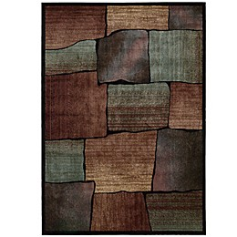 Nourison Expressions Squares Area Rug in Multicolor