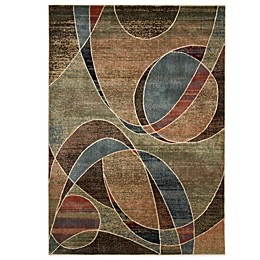 Nourison Expressions Abstract Area Rug in Multicolor