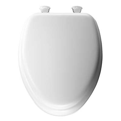 Mayfair Cushioned Vinyl Soft Elongated Toilet Seat with Easy-Clean & Change® Hinge