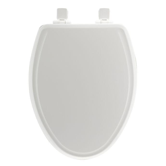 Alternate image 1 for Mayfair Elongated Molded Wood Whisper Close® Toilet Seat in White