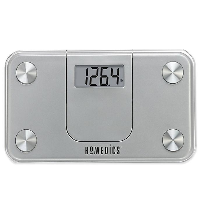 Homedics Mini Bathroom Scale In Silver