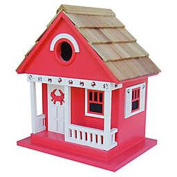 Home Bazaar Beachcomber Crab Cottage Birdhouse