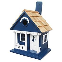 Home Bazaar Anchor Birdhouse Cottage in Navy