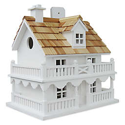 Home Bazaar Novelty Cottage Birdhouse in White