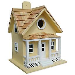 Home Bazaar Beachside Cottage Birdhouse in Yellow