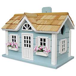 Home Bazaar Nantucket Cottage Birdhouse in Blue