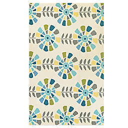 Couristan® Beachfront Collection Flower Blossoms Rug