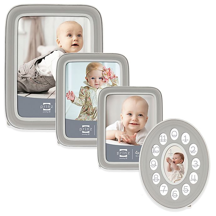 Alternate image 1 for Prinz Sweet Dreams Resin Picture Frame in Grey/White
