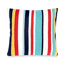 Liora Manne Riviera Stripe 20-Inch x 20-Inch Outdoor Throw Pillow