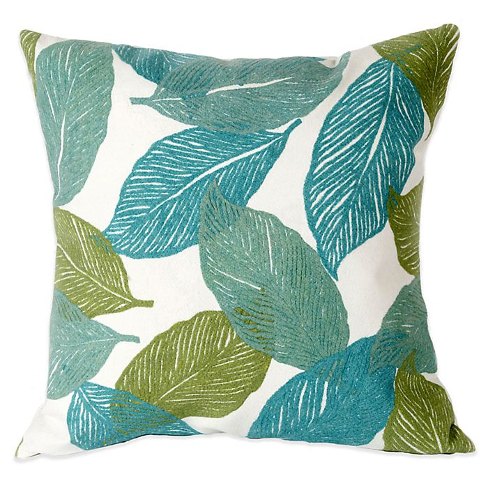 Alternate image 1 for Liora Manne Mystic Leaf 20-Inch x 20-Inch Outdoor Throw Pillow