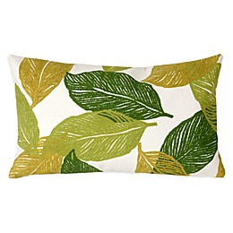 Liora Manne Mystic Leaf 12-Inch x 20-Inch Outdoor Throw Pillow
