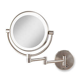 Zadro™ Cordless LED Lighted Dual Sided Mirror in Satin Nickel