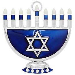 Crystals from Swarovski® Harvey Lewis™ Hanukkah Menorah Ornament