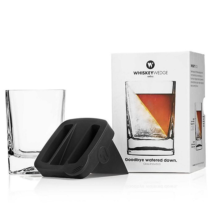 Alternate image 1 for Corkcicle® Whiskey Wedge with Glass