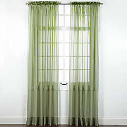 Elegance Sheer Rod Pocket Window Curtain Panel and Valance