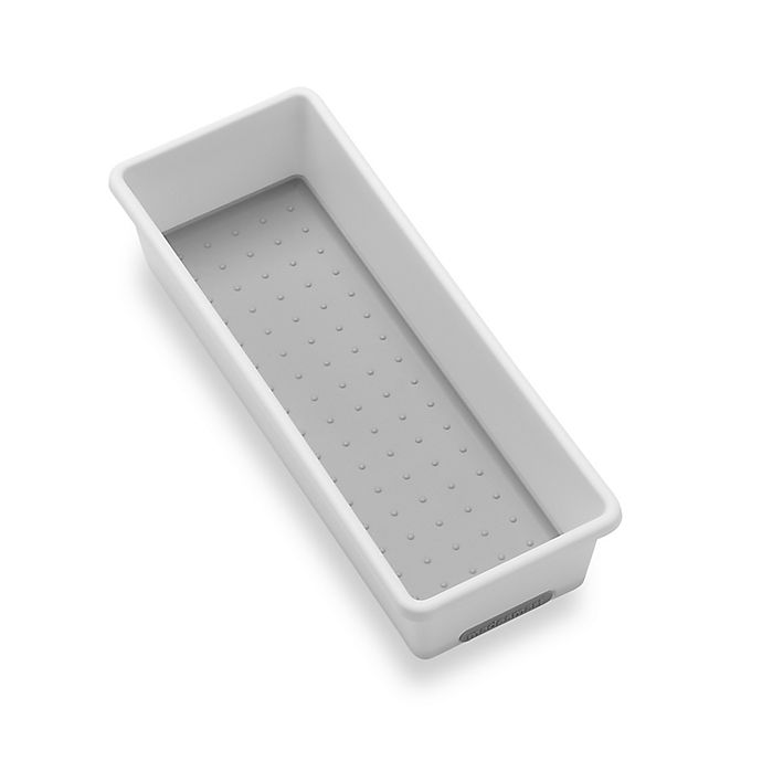 Alternate image 1 for madesmart® 3-Inch x 9-Inch Drawer Organizer in White/Grey