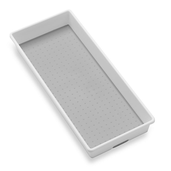 Alternate image 1 for madesmart® 6-Inch x 15-Inch Drawer Organizer in White/Grey