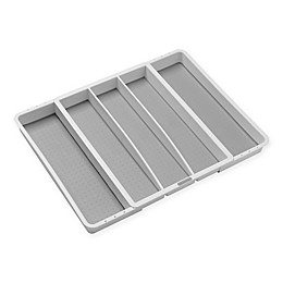 madesmart® Expandable Utensil Tray in White/Grey