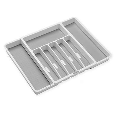 madesmart® Expandable Cutlery Tray in White/Grey