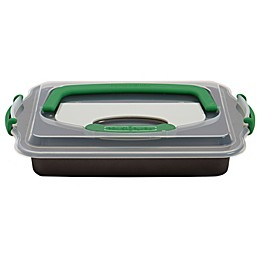 BergHOFF® Perfect Slice 13-Inch x 9-Inch Covered Cake Pan with Slicer Tool