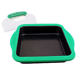 BergHOFF® Perfect Slice 9-Inch Square Cake Pan with Slicer Tool and Sleeve