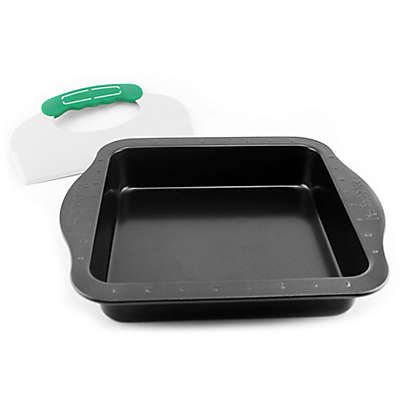 BergHOFF® Perfect Slice 9-Inch Square Cake Pan with Slicer Tool