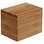 Oceanstar Design Bamboo Recipe Box with Divider