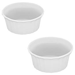 CorningWare® French White® 7 oz. Round Ramekins (Set of 2)