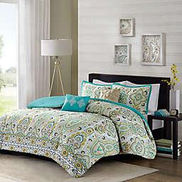 Intelligent Design Tasia Comforter Set in Green