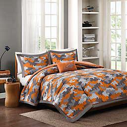 Mizone Lance Comforter Set in Orange