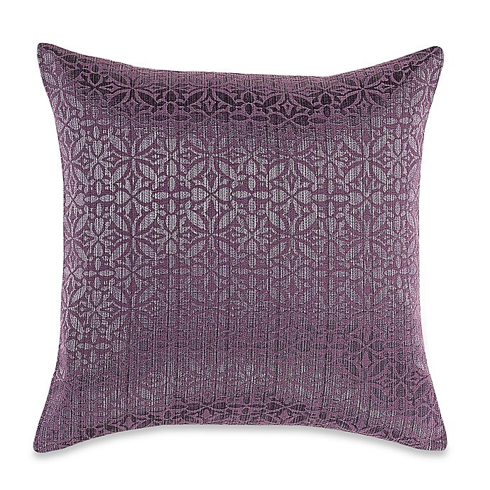 Alternate image 1 for MYOP Orchid Square Throw Pillow Cover in Purple