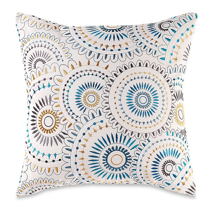 Myop Pinwheel Square Throw Pillow Cover In Indigo Blue