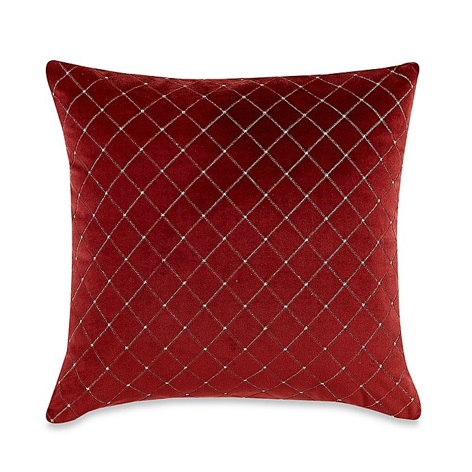 MYOP Quilted Diamond Square Throw Pillow Cover in Red | Bed Bath