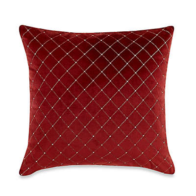 MYOP Quilted Diamond Square Throw Pillow Cover in Red
